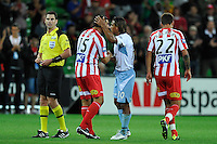 MELBOURNE, AUSTRALIA - FEBRUARY 12: John Aloisi of the Heart leaves the pitch after begin substituted in his final match before retiring during round 27 A-League match between the Melbourne Heart and Sydney FC at AAMI Park on February 12, 2011 in Melbourne, Australia. (Photo Sydney Low / AsteriskImages.com)