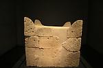 Israel, Jerusalem, Four Horned Altar from Tel Beer Sheba at the Israel Museum