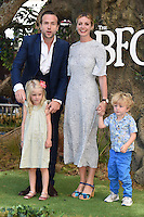 """Rafe Spall and Elize du Toit with family<br /> arrives for the """"BFG"""" premiere at the Odeon Leicester Square, London.<br /> <br /> <br /> ©Ash Knotek  D3141  17/07/2016"""