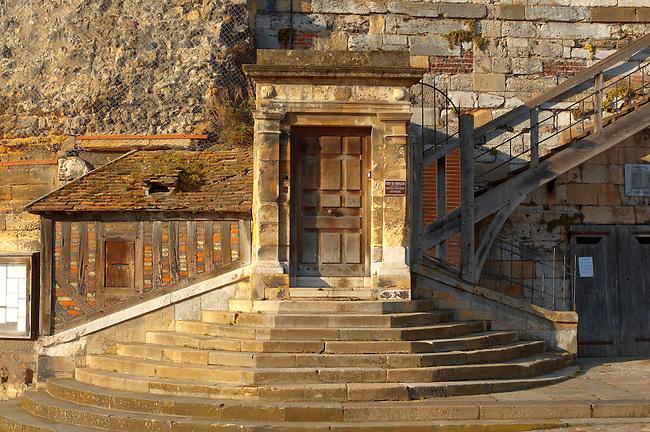 Entrance to Port Of Honfleur Administartion building. Honfleur, Normandy, France.