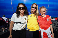 LE HAVRE, FRANCE - JUNE 20: Fans during a 2019 FIFA Women's World Cup France group F match between the United States and Sweden at Stade Océane on June 20, 2019 in Le Havre, France.
