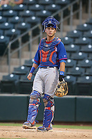 Tyler Alamo #8 of the AZL Cubs during a game against the AZL Rangers at Surprise Stadium on July 6, 2014 in Surprise, Arizona. AZL Rangers defeated the AZL Cubs, 7-5. (Larry Goren/Four Seam Images)
