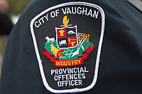 Vaughan Police badge is seen during a police memorial parade in Ottawa Sunday September 26, 2010.