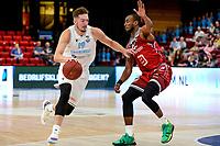 GRONINGEN - Basketbal , Open Dag met Donar - Antwerp Giants , voorbereiding seizoen 2021-2022, 05-09-2021,  Donar speler Willem Brandwijk  met De various marker Brown