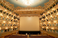 L'interno del Teatro La Fenice a Venezia.<br /> Interior view of La Fenice theater in Venice.<br /> UPDATE IMAGES PRESS/Riccardo De Luca