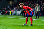 Antoine Griezmann of Atletico de Madrid reacts during the UEFA Europa League 2017-18 Round of 16 (1st leg) match between Atletico de Madrid and FC Lokomotiv Moscow at Wanda Metropolitano  on March 08 2018 in Madrid, Spain. Photo by Diego Souto / Power Sport Images