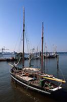 Deutschland, Hamburg, Museumshafen Övelgönne