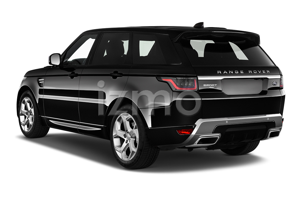 Car pictures of rear three quarter view of 2020 Land Rover Range-Rover-Sport HSE-PHEV 5 Door SUV Angular Rear