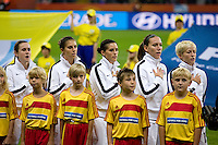 Heather O'Reilly, Carli Lloyd, Ali Krieger, Lauren Cheney, Megan Rapinoe.  Japan won the FIFA Women's World Cup on penalty kicks after tying the United States, 2-2, in extra time at FIFA Women's World Cup Stadium in Frankfurt Germany.
