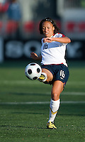 25 May 09:  USA National midfielder Angela Hucles #16 in action in an International Friendly soccer game between the US Women's Team and the Canadian Women's Team at BMO Field in Toronto..The US Women's Team won 4-0..