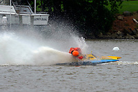 Frame 17: 300-P comes together with 911-Q, turns away and then is ejected from the boat.   (Outboard Hydroplanes)