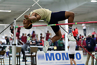 WINSTON-SALEM, NC - FEBRUARY 07: Tyler Riley of Wingate University competes in the Men's High Jump at JDL Fast Track on February 07, 2020 in Winston-Salem, North Carolina.