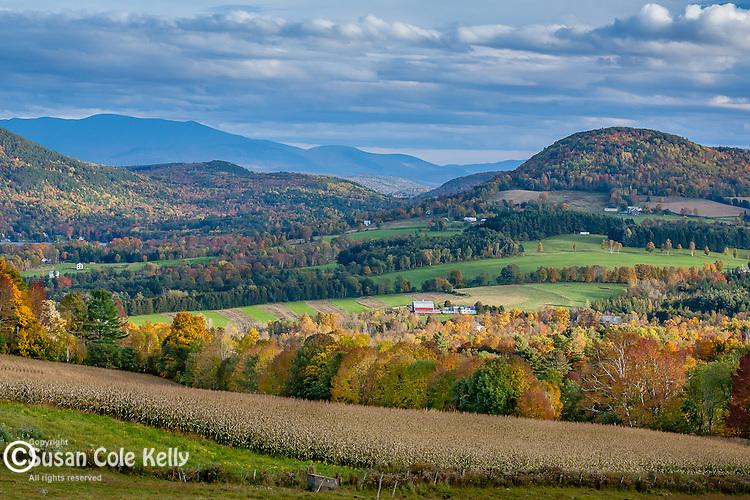 Fall foliage in Peacham, Northeast Kingdom, VT