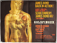BNPS.co.uk (01202) 558833.<br /> Pic: Ewbank's/BNPS<br /> <br /> Pictured: The Bond poster for  Goldfinger was part of the sale<br /> <br /> A collection of rare James Bond movie posters and memorabilia has sold for £220,000 following a bidding war.<br /> The adverts in the sale included a prized British Quad poster with four different works of art promoting the 1965 film Thunderball, which fetched £10,000.<br /> <br /> The 30ins by 40ins poster was designed to be cut into four pieces, so very few examples - complete or otherwise - have survived.