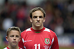 Nationwide Friendly International Wales v Sweden at the Liberty Stadium in Swansea : Wales' David Vaughan...