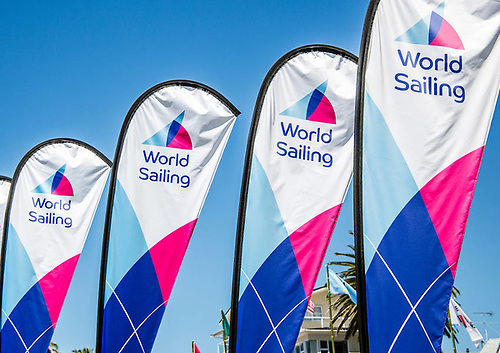 Flags with World Sailing logo