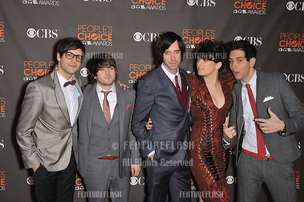 Cobra Starship at the 2010 People's Choice Awards at the Nokia Theatre L.A. Live in Los Angeles..January 6, 2010  Los Angeles, CA.Picture: Paul Smith / Featureflash