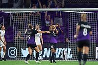 ORLANDO, FL - SEPTEMBER 11: Marta #10 of the Orlando Pride celebrates her goal during a game between Racing Louisville FC and Orlando Pride at Exploria Stadium on September 11, 2021 in Orlando, Florida.