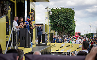 stage winner Mark Cavendish (GBR/Deceuninck - Quick Step) on the podium<br /> <br /> Stage 6 from Tours to Châteauroux (160km)<br /> 108th Tour de France 2021 (2.UWT)<br /> <br /> ©kramon