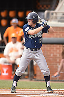 UC Irvine Anteaters right fielder Evan Cassolato (8) awaits a pitch during game one of a double header against the Tennessee Volunteers at Lindsey Nelson Stadium on March 12, 2016 in Knoxville, Tennessee. The Volunteers defeated the Anteaters 14-4. (Tony Farlow/Four Seam Images)
