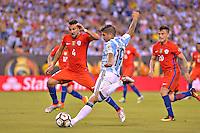 Action photo duringthe match Argentina vs Chile corresponding to the Final of America Cup Centenary 2016, at MetLife Stadium.<br /> <br /> Foto durante al partido Argentina vs Chile cprresponidente a la Final de la Copa America Centenario USA 2016 en el Estadio MetLife , en la foto:Ever Banega de Argentina<br /> <br /> 26/06/2016/MEXSPORT/ISAAC ORTIZ