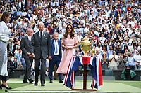 11th July 2021, Wimbledon SW London England, AELTC Wimbledon Tennis Championships, mens final, Novak Djokovic (Ser)  versus Matteo Berrettini (Ita) Duchesse Katherine ready for presentations