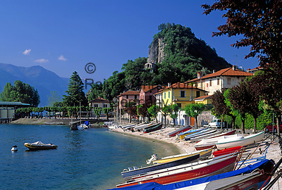 ITA, Italien, Lombardei, Lago Maggiore, Calde (Castelveccana): ruhiger Ort am Ostufer   ITA, Italy, Lombardia, Lago Maggiore, Calde (Castelveccana): quiet village at the east bank