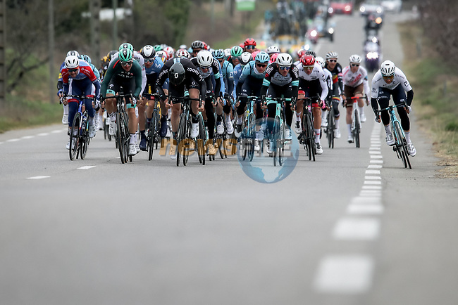 Jasha Sutterlin (GER) Team DSM goes for the intermediate sprint during Stage 5 of Paris-Nice 2021, running 200km from Vienne to Bollene, France. 11th March 2021.<br /> Picture: ASO/Fabien Boukla | Cyclefile<br /> <br /> All photos usage must carry mandatory copyright credit (© Cyclefile | ASO/Fabien Boukla)