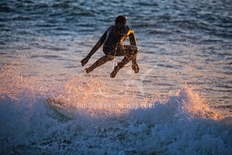 The regularity and beauty of the waves at Le Loch beach have made this a hot spot for surfers. Le Loch, Guidel, Brittany.