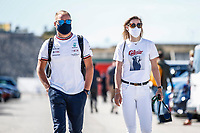 BOTTAS Valtteri (fin), Mercedes AMG F1 GP W12 E Performance, portrait and his gilfriend Tiffany Cromwell during the Formula 1 Heineken Grande Prémio de Portugal 2021 from April 30 to May 2, 2021 on the Algarve International Circuit, in Portimao, Portugal -  <br /> FORMULA 1 : Grand Prix Portugal - Essais - Portimao - 30/04/2021<br /> Photo DPPI/Panoramic/Insidefoto <br /> ITALY ONLY