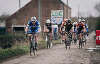 Florian SÉNÉCHAL (FRA/Deceuninck-Quick Step) on his way to victory at the 51th Le Samyn 2019 <br /> <br /> Quaregnon to Dour (BEL): 200km<br /> <br /> ©kramon