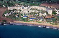 Aerial of the Four Seasons hotel, Wailea beach, Maui