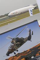 - wall painting with combat antitank helicopter Eurocopter Tigre, Zeppelin airship....- dipinto murale con elicottero da combattimento anticarro Eurocopter Tigre, dirigibile Zeppelin