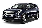 2018 Cadillac XT5 AWD-Platinum 5 Door SUV Angular Front stock photos of front three quarter view