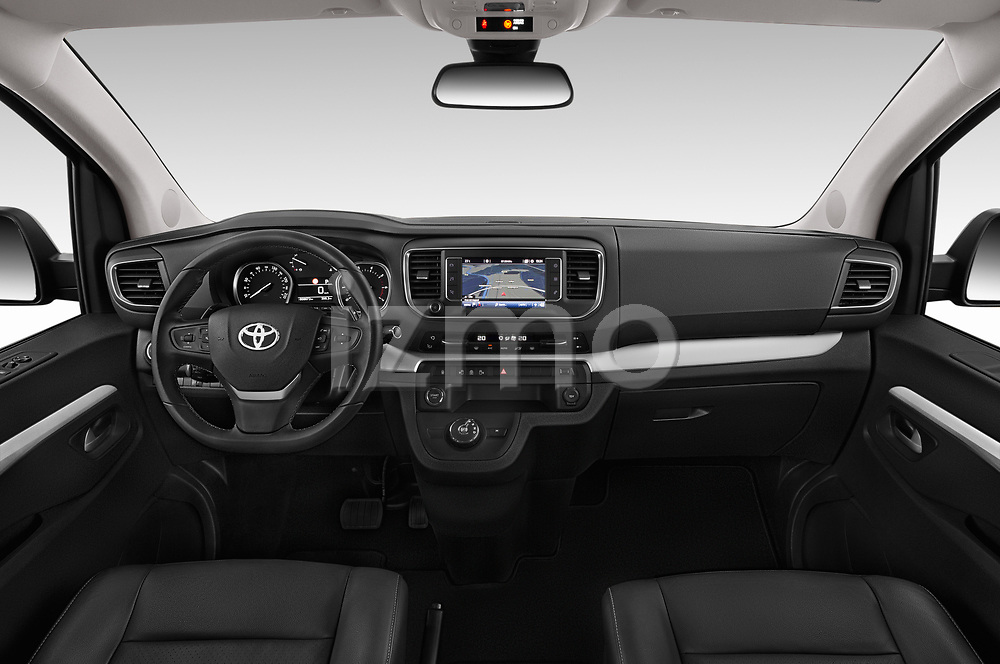 Stock photo of straight dashboard view of 2018 Toyota Proace-Verso VIP 5 Door Minivan Dashboard