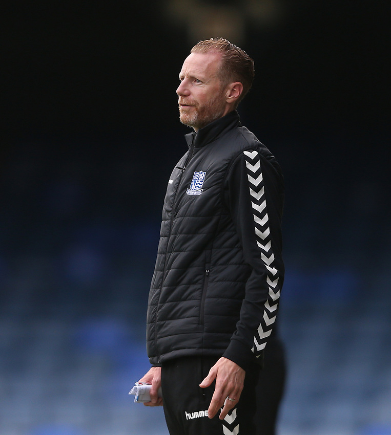 Southend United manager Mark Molesley <br /> <br /> Photographer Rob Newell/CameraSport<br /> <br /> EFL Trophy Southern Section Group A - Southend United v West Ham United U21 - Tuesday 8th September 2020 - Roots Hall - Southend-on-Sea<br />  <br /> World Copyright © 2020 CameraSport. All rights reserved. 43 Linden Ave. Countesthorpe. Leicester. England. LE8 5PG - Tel: +44 (0) 116 277 4147 - admin@camerasport.com - www.camerasport.com