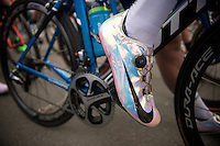 bling shoes for Adam Blythe (GBR/Orica-GreenEDGE)<br /> <br /> 3 Days of De Panne 2015