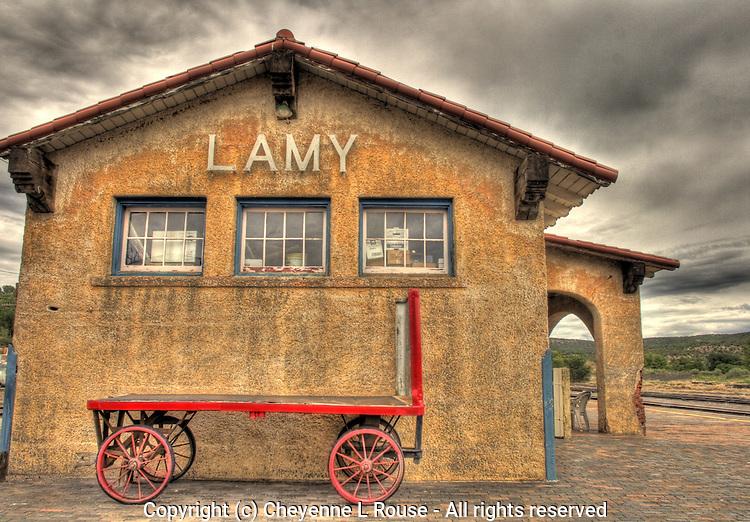 Lamy Train Station in Lamy, New Mexico