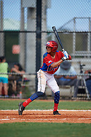 Miguel Tamares (4) during the Dominican Prospect League Elite Florida Event at Pompano Beach Baseball Park on October 14, 2019 in Pompano beach, Florida.  (Mike Janes/Four Seam Images)