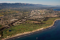 aerial photograph of Sandpiper Golf Club, Goleta, Santa Barbara County, California
