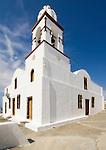 A church on the island of Therasia on Santorini, Greece.