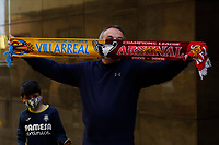 29th April 2021; Ceramica Stadium, Villareal, Spain; EUropa League semi-final football, Villareal CF versus Arsenal;  Villarreal supporters outside the stadium during the UEFA Europa League match