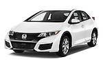 2015 Honda Civic Comfort 5 Door Hatchback Angular Front stock photos of front three quarter view