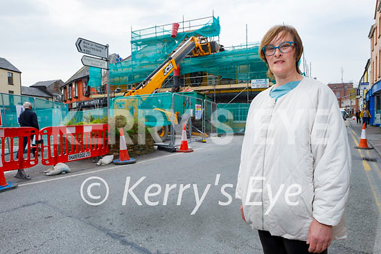 Fiona Kirby standing outside the Brogue Inn as its its undergoing major renovations.