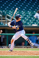 Montgomery Biscuits left fielder Nick Solak (14) at bat during a game against the Biloxi Shuckers on May 8, 2018 at Montgomery Riverwalk Stadium in Montgomery, Alabama.  Montgomery defeated Biloxi 10-5.  (Mike Janes/Four Seam Images)