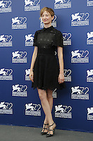 Alba Rohrwacher attends a photocall for the movie 'Blood Of My Blood' during the 72nd Venice Film Festival at the Palazzo Del Cinema in Venice, Italy, September 8, 2015.<br /> UPDATE IMAGES PRESS/Stephen Richie