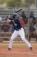 San Diego Padres outfielder Greg Lambert (14) during a Minor League Spring Training game against the Seattle Mariners at Peoria Sports Complex on March 24, 2018 in Peoria, Arizona. (Zachary Lucy/Four Seam Images)
