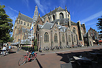 Great Church (Grote Kerk) in the market square, Haarlem, Netherlands.