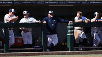 CARY, NC - FEBRUARY 23: Head coach Rob Cooper of Penn State University watches from the dugout during a game between Wagner and Penn State at Coleman Field at USA Baseball National Training Complex on February 23, 2020 in Cary, North Carolina.