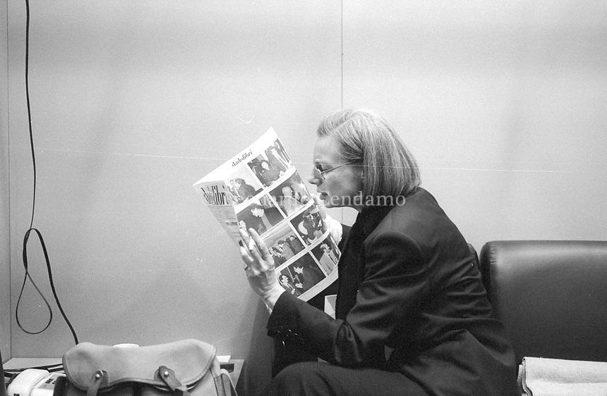 Fleur Jaeggy è nata a Zurigo e vive a Milano dal 1968. Presso Adelphi ha pubblicato: Il dito in bocca. Torino, 12 maggio 1995. Photo by Leonardo Cendamo/Getty Images